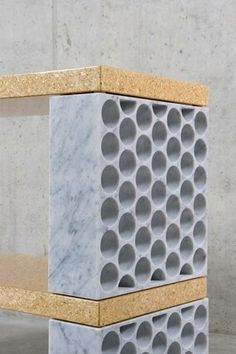// Carrara marble & particle board