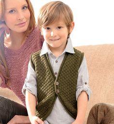 Modèle gilet sans manches enfant - Modèles tricot enfant - Phildar