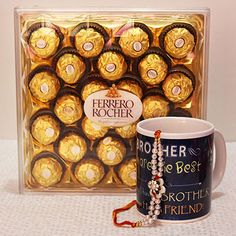 Shop Big Chocolaty Gift hamper at http://rakhi.giftalove.com/rakhi-with-mugs-1192.html | #Giftalove