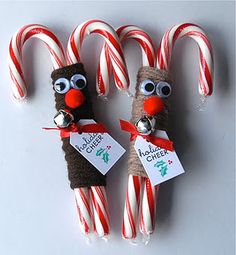 Reindeer candy cane greetings!