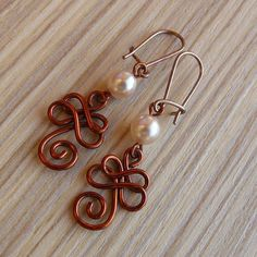 Copper Earrings #otb