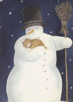 Snowman & Cat - Helje