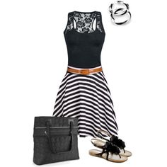 """Thirty one vary you versatile bag black"" by jade-illeck on Polyvore www.mythirtyone.com/BeckyTimmons"