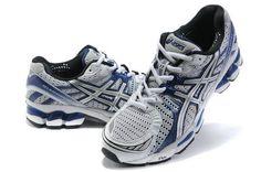 Men Asics GEL KAYANO 17 Shoes White Dark Blue