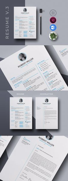 Resume CV Template Bundle - Resumes Stationery Print Templates