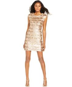 Macy's.  Texture: The dress' sheen makes it too NYE.