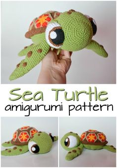 Patterns Amigurumi Adorable Squirt the turtle-inspired crochet pattern looks just like the turtle from Finding Nemo! Love this amigurumi pattern! So adorable! Crochet Easter, Cute Crochet, Crochet Crafts, Yarn Crafts, Crotchet, Crochet Animal Patterns, Stuffed Animal Patterns, Crochet Patterns Amigurumi, Crochet Dolls