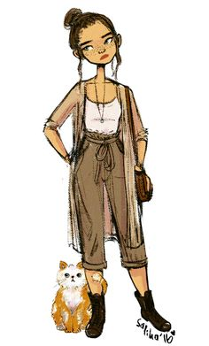 rey and bb-cat, modern au? i guess