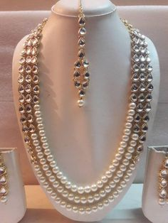 Indian Traditional Gold Plated Kundan Jewelry Wedding Necklace   Etsy