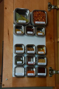 Finally got my spices under control thanks to these MagnaPod sheets.