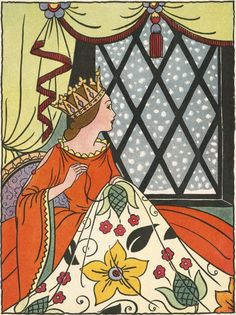 Book Illustration of the Queen in the Ebony Window by Bess Livings Tarot, Japanese Drawings, Vintage Sewing Machines, Fairytale Art, Watercolor Fashion, Sewing Art, Portraits, Fantasy Art, Wall Art Prints