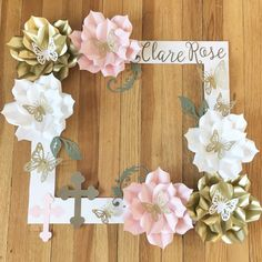 First Communion Selfie Frame Paper Flower Selfie