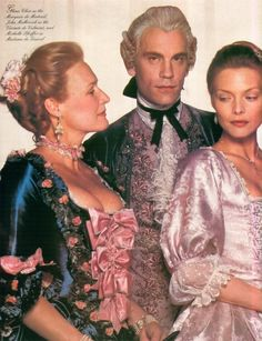 Glenn Close, John Malkovich and Michelle Pffeifer in Dangerous Liasons which replaced The King I as my most watched film. Dangerous Liaisons, Pink Evening Dress, Rococo Fashion, Glenn Close, John Malkovich, 18th Century Fashion, Michelle Pfeiffer, Movie Costumes, Moving Pictures