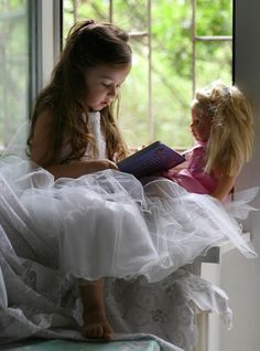 To read the book to a doll... by mechtaniya.deviantart.com on @deviantART