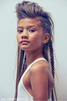 Jill Greenburg portrait backstage for Pale Cloud spring 2014 kids fashion catwalk show in New York