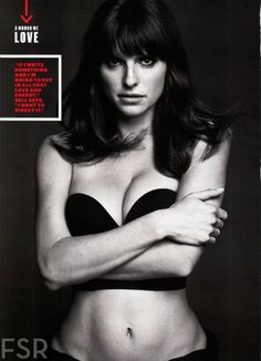 Lake Bell - Esquire. Good example of swimsuit or fitness look that also works for fashion.