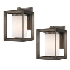 Laurel Designs Modern Outdoor Wall Sconce 2-pack - on Costco