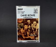 David Bowie Diamond Dogs Cassette Tape - Vintage RCA 1981 - Made in Australia David Bowie Diamond Dogs, The Bowie, Star David, Cassette Tape, Vintage Music, Australia, This Or That Questions, Plays, Shop