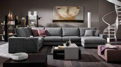 Modular sofa – Domino | Italian modern furniture from Natuzzi Italia