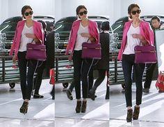 전지현 #pinkleatherjacket #fashion