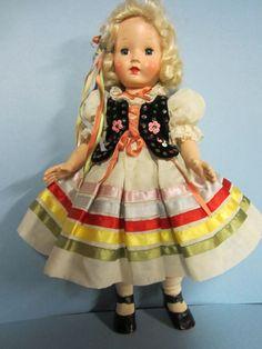 Beautiful All Original Effanbee Honey Doll Ribbon trim Polish dancer