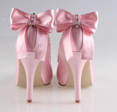 Rosa Hochzeits-Schuhe 2015