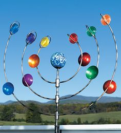 Our wind spinners, whirligigs and garden spinners bring incredible movement to your outdoor d�cor. Shop metal wind spinners, copper wind spinners and more. Wind Sculptures, Sculpture Art, Garden Sculpture, Metal Yard Art, Metal Art, Kinetic Wind Spinners, Garden Spinners, Kinetic Art, Outdoor Art