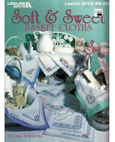 Soft & Sweet Basket Cloths / Cross Stitch by grammysyarngarden, $4.00