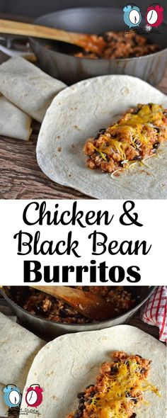 Chicken & Black Bean Burrito on Alarm Clock Wars. This Chicken & Black Bean Burrito recipe is so fast to put together! They make an easy weeknight meal, and a different twist on taco night.