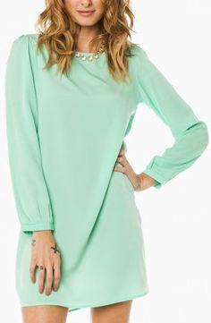 Middleway Shift Dress in Mint