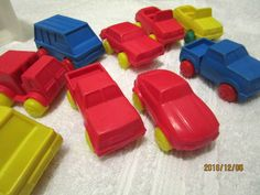 CARS KIDS HARD PLASTIC CARS AND TRUCKS MIXED LOT 9 TOTAL PRESCHOOL TOY CARS  #Unbranded