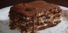 Receita de torta de bolacha e chocolate
