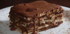 Torta de bolacha e chocolate