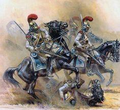 """""""Borodino. Carabiniers under fire"""" A.F. Telenik"""
