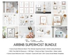 Airbnb Host Bundle welcome book template Superhost How | Etsy Wal Art, Wifi Card, Airbnb Host, Cleaning Checklist, Minimal Design, Printable Wall Art, Your Space, Stuff To Do, This Or That Questions