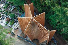 Does it start to take on the landscape?? Sayama Forest Chapel | Saitama, Japan • Hiroshi Nakamura & NAP Co.
