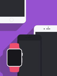 Flat Apple Devices Mockups 1.1 (UPDATE)