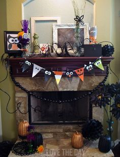 FREE Printable Halloween Characters Banner by Love The Day