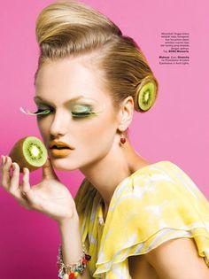 darexo:  leahcultice:  Fruity LoopsIrina Roshik inHarper's Bazaar Indonesia byNicoline Patricia Malina  Models♡