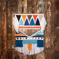 Large hand woven wall hanging tapestry