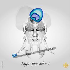 Adorn your inner soul as your ornaments & beauty will shine! Happy Janmashthmi!  Illustrated by: Tanmay Patel.