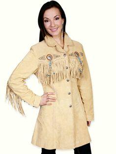 Pueblo Fringe Coat - Boar Suede - Chamois