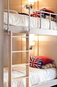 diy pipe bunk bed railing - Google Search