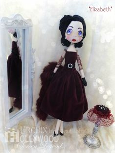 Urchin Elizabeth by Vicki @ Lilliput Loft Inspired by screen legend Elizabeth Taylor