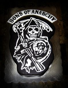 Sons of Anarchy Cake- every detail was hand cut and made in fondant :)