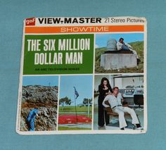 vintage THE SIX MILLION DOLLAR MAN VIEW-MASTER REELS with booklet