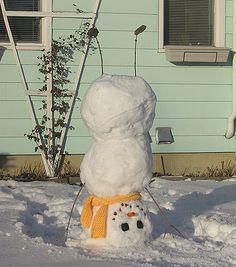 snow man hand stand