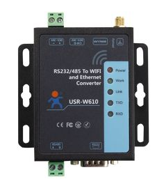 Serial To WiFi and Ethernet Converter USR-W610, which can realize bidirectional transparent transmission between RS232/RS485 and Ethernet/WiFi.