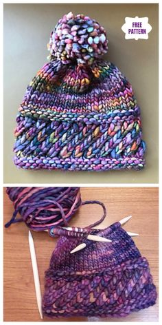 Knit Perky Little Hat Free Knitting Pattern - stricken, häkeln - Strickmuster Easy Knitting, Knitting For Beginners, Loom Knitting, Knitting Stitches, Knitting Scarves, Knitting Ideas, Scarves To Knit, Knitting And Crocheting, Beanie Knitting Patterns Free