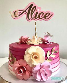 Birthday Drip Cake, Birthday Cake Decorating, Anime Cake, 28th Birthday, Types Of Cakes, Glitter Cake, Rose Cake, Drip Cakes, Buttercream Cake